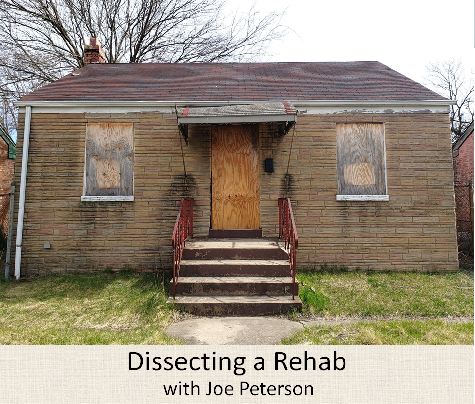 Dissecting a Rehab with Joe Peterson